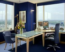 awesome blue white glass wood unique design cool office work space