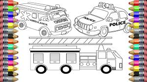 Ambulance Coloring Pages Police Car Fire Truck Ambulance Coloring ... Easy Fire Truck Coloring Pages Printable Kids Colouring Pages Fire Truck Coloring Page Illustration Royalty Free Cliparts Vectors Getcoloringpagescom Tested Firetruck To Print Page Only Toy For Kids Transportation Fireman In The Letter F Is New On Books With Glitter Learn Colors Jolly At Getcoloringscom