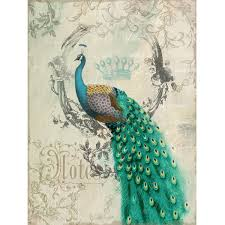 Peacock Themed Bedroom Decor Wall Art Canvas