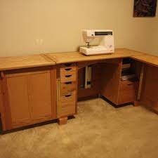 Sewing Cabinet Plans Build by Deluxe Sewing Center Plan Rockler Woodworking And Hardware