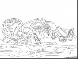 Remarkable Adult Beach Coloring Pages With Page And For Preschool