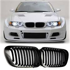 Aliexpress Buy Gloss Black Kidney Front Grilles Grill For