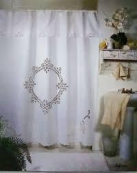 Battenburg Lace Curtains Ecru by Vintage Cotton Battenburg Lace Shower Curtain With Hooks White