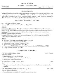 Resume Samples For Banking Professionals Best Summary