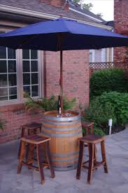 Patio Tablecloth With Umbrella Hole by Best 25 Table Umbrella Ideas Only On Pinterest Barrel Table
