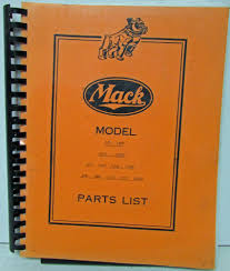 100 Mack Truck Parts 1940 1941 1942 L Series Cab Over Engine List LFU