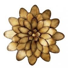 Wall Art Ideas Design Large Bronze Metal Flowers Paper Monogrammed Indoors Handmade Rustic Lincense Decoration Yellow Top