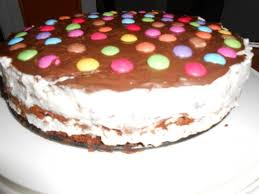 stracciatella torte mit smarties