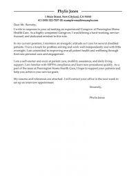 Cover Letter For Caregiver Elderly