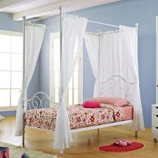 Twin Metal Canopy Bed Pewter With Curtains by Placing Canopy Bed Curtains U2014 Jen U0026 Joes Design