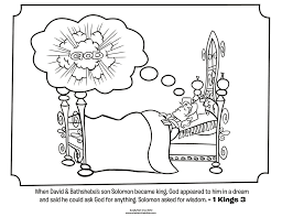 King Solomon And The Bible Coloring Page