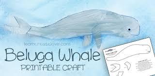 Printable Beluga Whale Craft