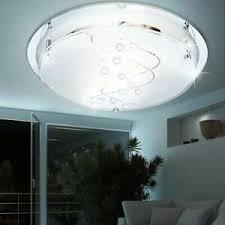 details zu design decken le wohnzimmer glas satiniert spiegel esszimmer beleuchtung e27