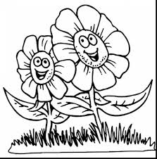 Extraordinary Spring Flower Coloring Pages For Kids With Childrens And