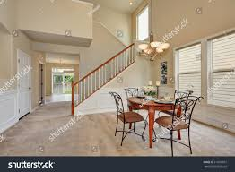 Beige Dining Room Interior High Ceiling Stock Photo (Edit ...