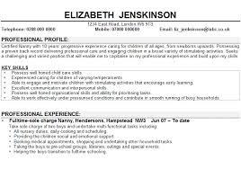 Babysitter Resume Objective Sample Child Care Job Description Cover Letter