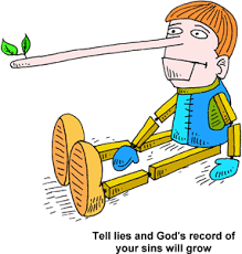 Courtesy clipart telling lies 1