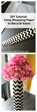 How To Use Wrapping Paper Decorate Vases