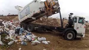 Garbage Truck ASL Dumping At Landfill! 3-28-14 - YouTube