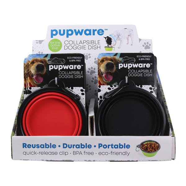 DM Merchandising 2341419 Pupware Collapsible Silicone Dog Bowl - Case of 24