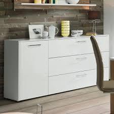 forte babila sideboard bblk121 für ihr wohnzimmer oder esszimmer komode mit tür und schubkästen dekor korpus weiß matt kombiniert mit weiß hochglanz