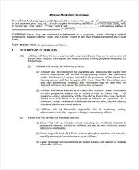 Affiliate Contract Template Agreement Form New Best Emulating An