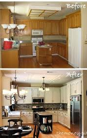 Kitchen Before After Paint Backsplash Light Fixtures Whole New Look