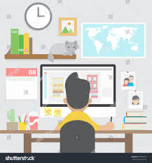 Graphic Designer Working Computer Home Office Stock Vector ... Blacksakura Page 2 The Home Design Article My Wordpress Blog Work From Graphic Designer Interior Simple 100 Jobs 34 Best Freelancer At Elegant Playful Logo For Wonderful Decoration Ideas Beautiful At A Great Career In Designing Small Arc Online Martinkeeisme Images Awesome Can Designers Photos Decorating
