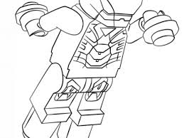 Lego Iron Man Coloring Page Free Printable Pages