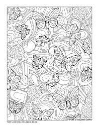 Creative Haven Textile Designs Coloring Book By Marjorie Sarnat Pattern