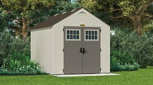 Plastic Storage Sheds At Menards by 574 Cu Ft Tremont 8 X 10 Storage Shed Suncast Corporation