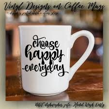 Choose Happy Everyday Cute Coffee Mug Cup Funny Lovely Rugged