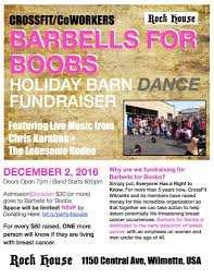 CrossFit/CoWorkers Barbells For Boobs Holiday Barn Dance Fundraiser Tragically Gone Barn Dance Venue Near Arthur Nd Lost To Fire Pizza Ranch Fundraiser Mzcs Music Department 22717 Mt Zion Best 25 Ideas On Pinterest Party Crossfitcoworkers Barbells For Boobs Holiday Dance Night In May Nicasio California Anise Leann Rockstar Angel Foundation Kghl Offers Fun A Great Cause Steamboattodaycom The Church Kew Barnkew Twitter Step Website