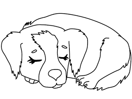 Dog Coloring Pages Sleeping