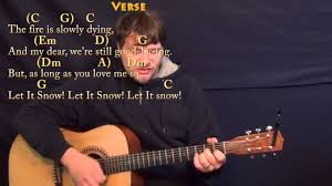 Rockin Around The Christmas Tree Chords Beatles by Let It Snow Strum Guitar Cover Lesson In C With Chords Lyrics
