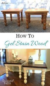 How To Gel Stain Wood Furniture Make Stained Furniture Look New