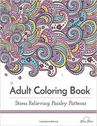 Adult Coloring Book Stress Relieving Paisley Patterns Blue Star 9781941325148 Amazon Books