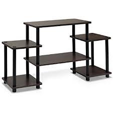 Furinno Computer Desk Amazon by Amazon Com Furinno 11257dbr Bk Turn N Tube No Tools Entertainment