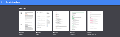 Free Resume Templates From Google Docs Drive