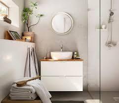 nachhaltig waschbeckenunterschrank mit bambusabdeckung