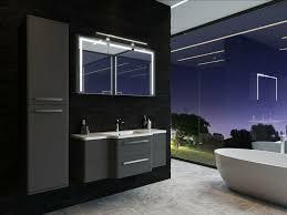 badezimmermöbel schwarz 4 teilige led beleuchtung vormontiert