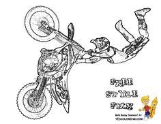 Toy Story Free Printable Coloring Pages See More Motorcycle Dirt Bike Tricks