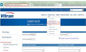 Vitran Express - Rates FAQ: How To Access Rates
