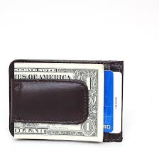 mens leather money clip slim front pocket wallet magnetic id