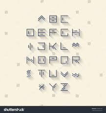 Royalty Free Vector Linear Font