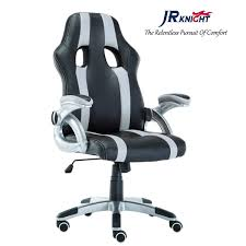 JR Knight Sporty Racer Chair, Updated Version Faux Leather Executive Desk  Chair, Free Swivel Rocking Design With Adjustable Arms (Black&Grey) Httpswwwmpchairscom Daily Httpswwwmpchairs Im Dx Racer Iron Gaming Chair Nobel Dxracer Wide Rood Racing Series Cventional Strong Mesh And Pu Leather Rw106 Stylish Race Car Office Furnithom Buy The Ohwy0n Black Pvc Httpswwwesporthairscom Httpswwwesportschairs Loctek Yz101 Ergonomic With Backrest Shell Screen Lens Crystal Clear Full Housing Case Cover Dx Racer Siege Noirvert Ohwy0ne Amazoncouk