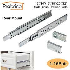 5 Pairs Soft Close Rear under Mount Drawer Slides Glides Dhh32 22