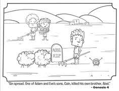 Kids Coloring Page From Whats In The Biblefeaturing Cain And Abel Genesis Volume Beginning