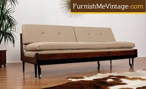 Mid Century Modern Daybed with Trundle