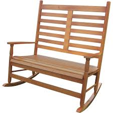 Stonegate Designs 2-Person Wooden Rocking Chair — 45 1/4in.W X 32 3/4in.D X  45.25in.H, Model# JR1506